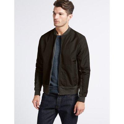 M&S Collection Cotton Rich Zipped Through Sweatshirt