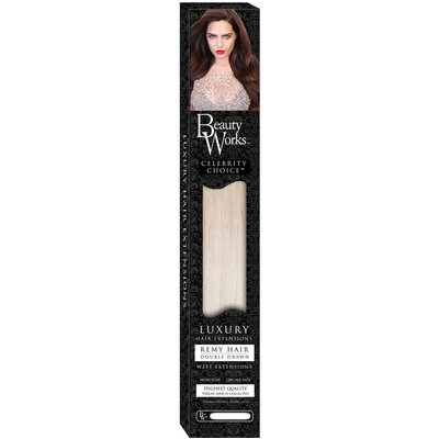 Beauty Works 24 Celebrity Choice - Weft Hair Extensions - Malibu Blonde 613/60