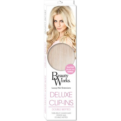 Beauty Works 18  Deluxe Remy Instant Clip-In Extensions - Malibu Blonde 613/60