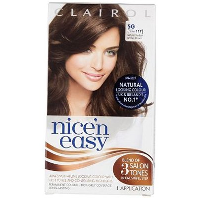 Nice'N Easy Permanent Hair Colour #5G Natural Medium Golden Brown (Former shade #117)