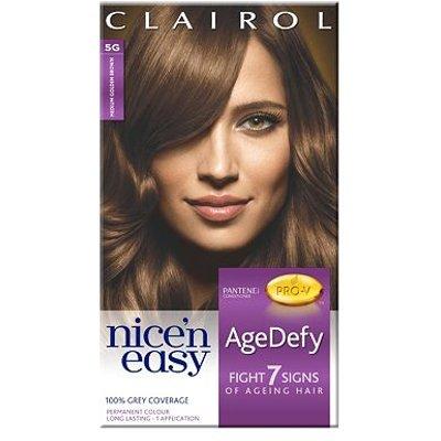Nice'n Easy AgeDefy Permanent Hair Colour Shade 5G Medium Golden Brown