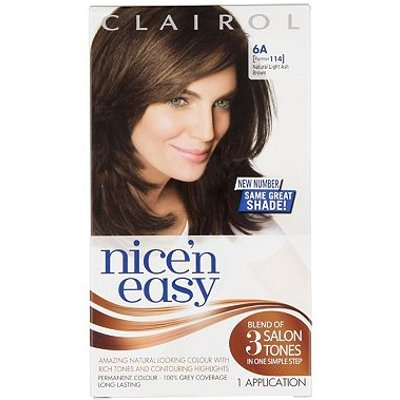 Nice'n Easy Permanent Hair Colour #6A Natural Light Ash Brown (Former #114)