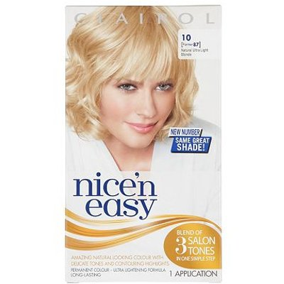 Nice'n Easy Permanent Hair Colour #10 Natural Ultra Light Blonde (Former #87)