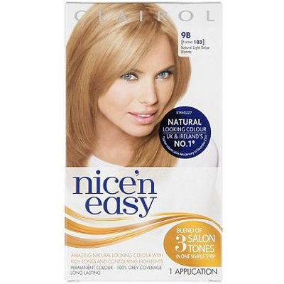 Nice'n Easy Permanent Hair Colour #9B Natural Light Beige Blonde (Former #103)