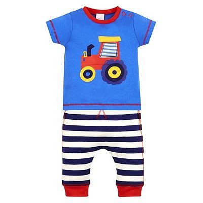 mini club tractor print top and jogger s