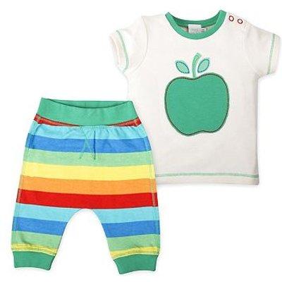 mini club apple print top and jogger set
