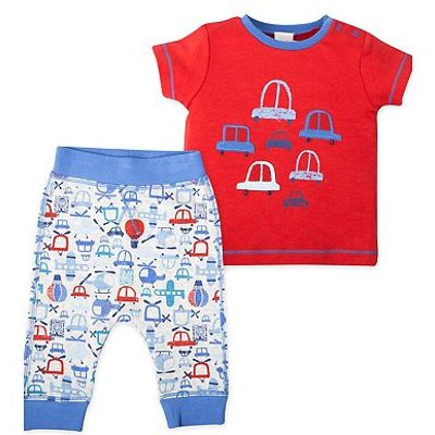 mini club car print top and jogger set