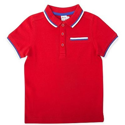 mini club red polo top