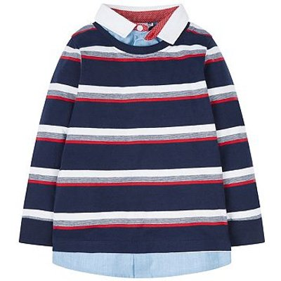 MC BBA STRIPE T/MULTI