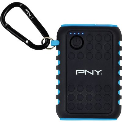 3536403351359 | PNY  Outdoor Charger 7800 mAh Portable Power Bank   Black   Blue  Black Store