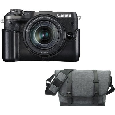 CANON EOS M6 Mirrorless Camera with 18-150 mm f/3.5-6.3 Lens & Bag Bundle