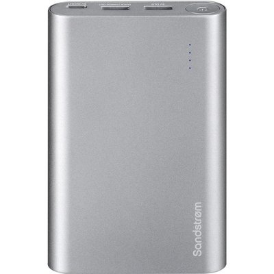 5017416759625 | SANDSTROM S13PBQC17 Portable Power Bank   Silver  Silver Store
