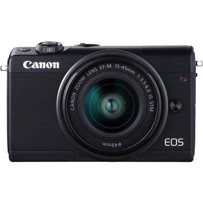 CANON EOS M100 Mirrorless Camera with EF-M 15-45 mm f/3.5-6.3 Lens - Black, Black