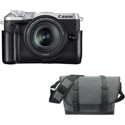 CANON EOS M6 Mirrorless Camera, 18-150 mm f/3.5-6.3 Lens & Bag Bundle