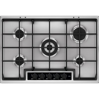 AEG HG75SY5451 Gas Hob   Stainless Steel  Stainless Steel - 7332543539284
