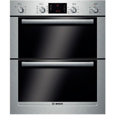 4242002708782 | Bosch HBN53R550B double ovens  in Brushed Steel Store