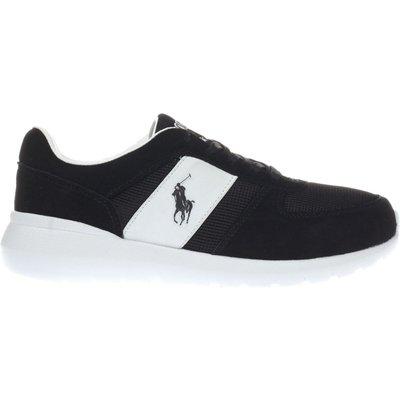 polo ralph lauren black   white cordell trainers - 5054457704269
