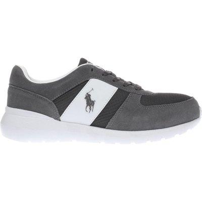 polo ralph lauren grey cordell trainers - 5054457704337