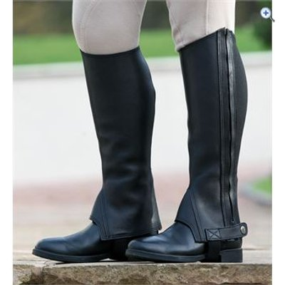 Shires Performance Cantley Leather Half Chaps - Size: XS - Colour: Black