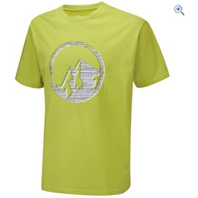 North Ridge Embroidery Men's Tee - Size: S - Colour: LIME GREEN