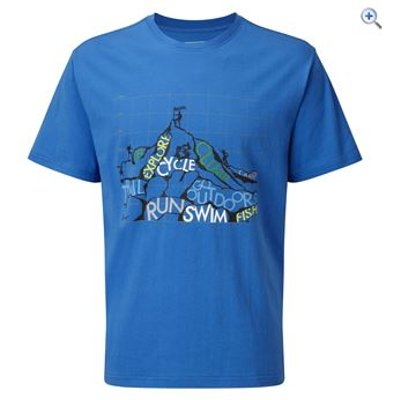 Hi Gear Rhine Men's Tee - Size: M - Colour: Blue