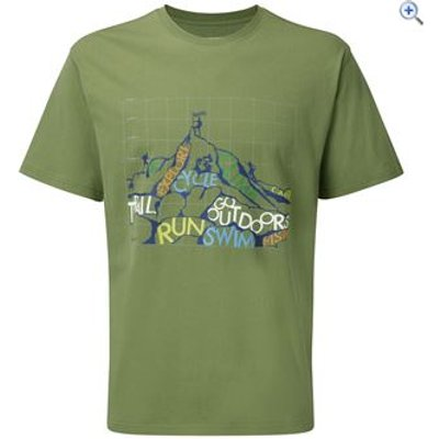 Hi Gear Rhine Men's Tee - Size: XXL - Colour: Khaki
