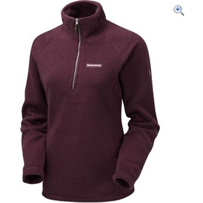 Craghoppers Women's Witney Textured Fleece - Size: 10 - Colour: DARK RIOJA RED