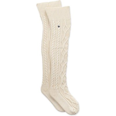 UGG Cable Knit Sock Womens Cold Weather Accessories Cream