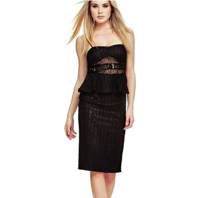 Marciano Guess Marciano Peplum Dress With Lace