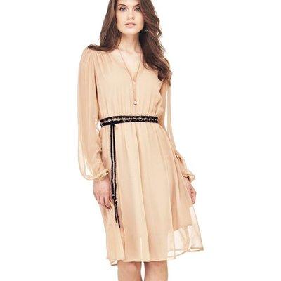 Marciano Guess Marciano Belt Detail Silk Dress