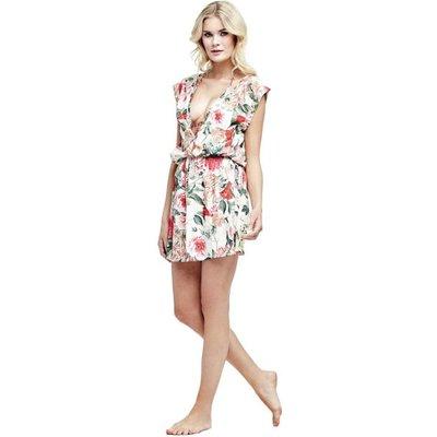 Guess Floral Tropical Foliage Dress