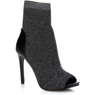 Guess Abri Open-Toe Knit Ankle Boot