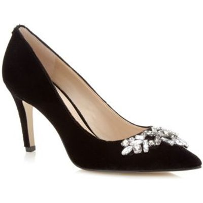 Guess Eland Velvet Court Shoe Jewel Detail