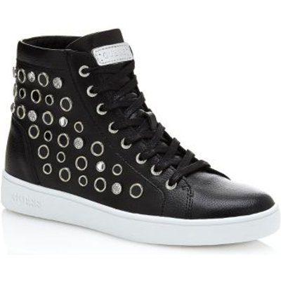 Guess Gerta Leather Sneaker With Studs