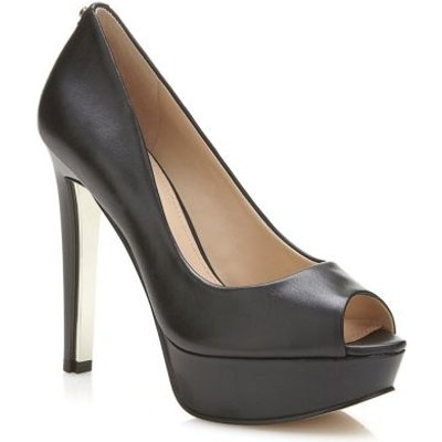 Guess Heali Leather Peep-Toe Court Shoe