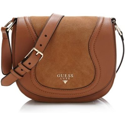 Guess Faith Real Leather Crossbody Bag