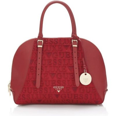 Guess Lady Luxe Leather Satchel Bag