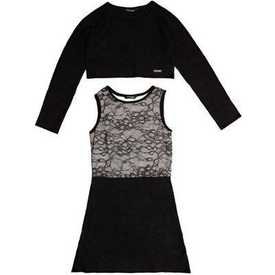 Guess Kids Marciano Dress And Sweatshirt Set