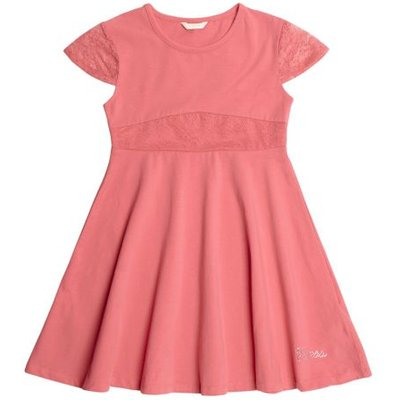 Guess Kids Dress With Lace Inserts