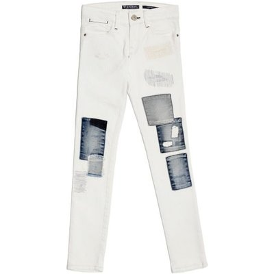 Guess Kids Denim Jeggings With Front Patches
