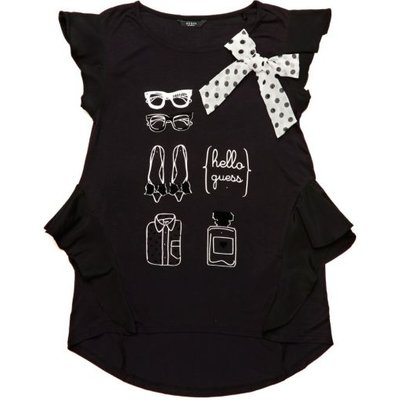 Guess Kids Printed T-Shirt With Bow