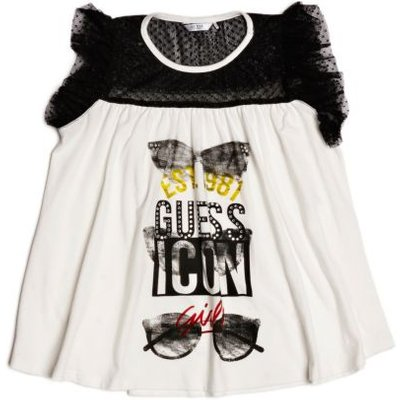 Guess Kids Top With Tulle Inserts