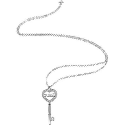 Guess Key Element Rhodium-Plated Necklace