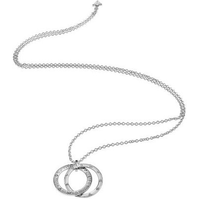 Guess E-Motions Rhodium Plated Necklace