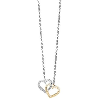 Guess Lovers Yellow Gold Plated Heart Necklace