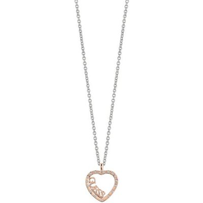 Guess Love Affair Rose Gold Plated Heart Necklace