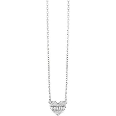 Guess My Darling Rhodium-Plated Necklace