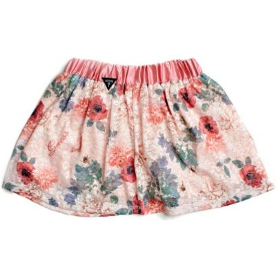 Guess Kids Lace Floral Print Skirt