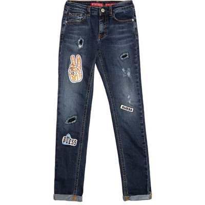 Guess Kids Skinny Jeans With Appliqués