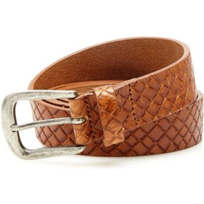 Guess Real Leather Buckle Belt